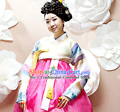 Korean Traditional Special Day Hanbok Dresses Complete Set for Women