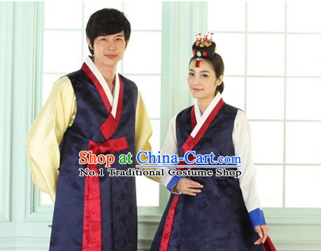 Top South Korean Hanbok Wedding Dresses Complete Set for Brides and Grooms
