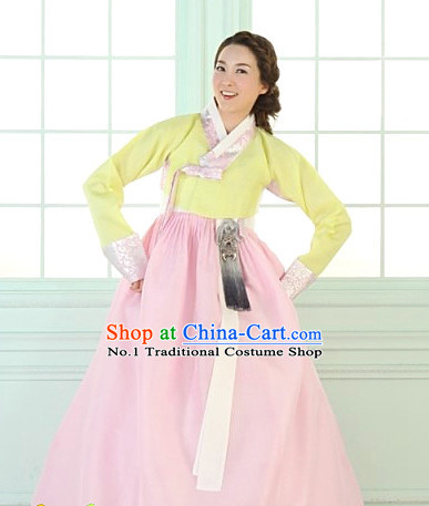 Korean Women Fashion Traditional Hanboks Wedding Costumes Complete Set