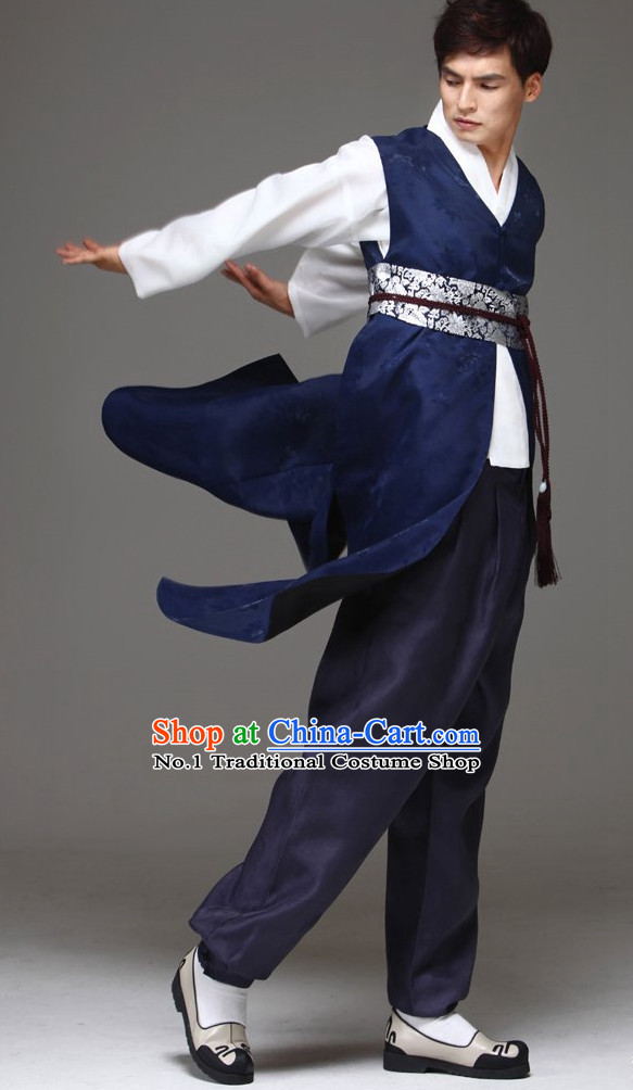 Korean Fashion Traditional Hanbok Clothing Complete Set for Men