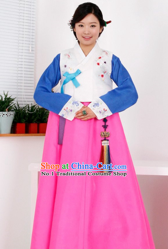 Top Korean Traditional Hanbok Birthday Ceremonial ClothingComplete Set for Women