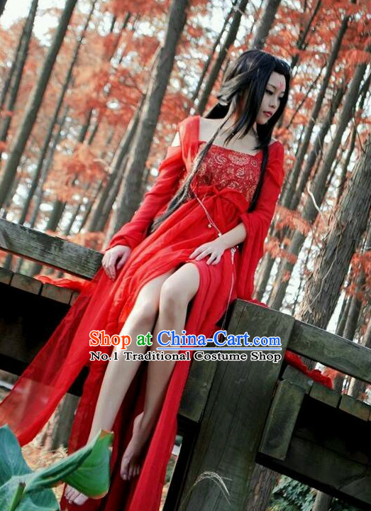 Chinese Costumes Traditional Clothing China Shop Red Sexy Halloween Costumes for Women