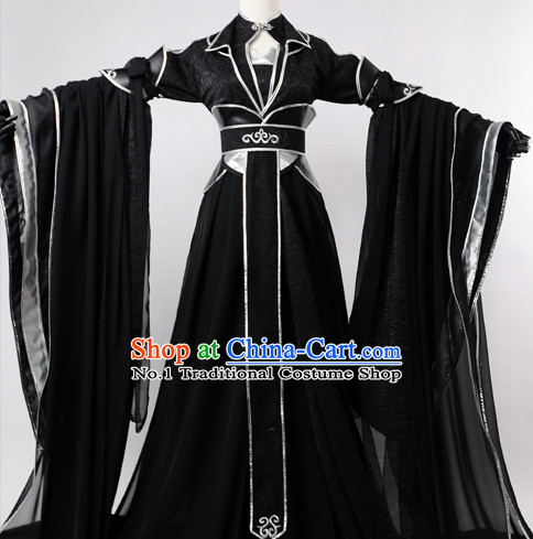 Chinese Black Swordsmen Hanfu Cosplay Halloween Costumes Carnival Costumes for Men