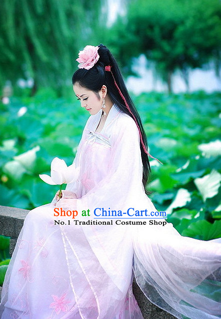 Chinese Tang Dynasty Ruqun Hanfu Clothing China Civilization and Hair Jewelry Complete Set for Women