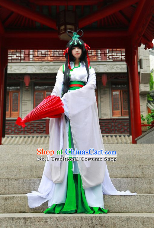 Asian Fashion Chinese Fairy Cosplay Costumes Complete Set for Women