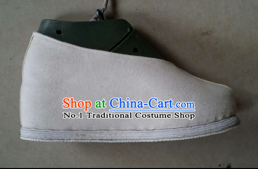 High Heel Handmade Chinese Traditional Ladies Fabric Shoes Footwear