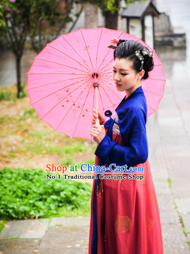 Asian Fashion Oriental Dresses Chinese Hanfu Plus Size Classy Suits Complete Set
