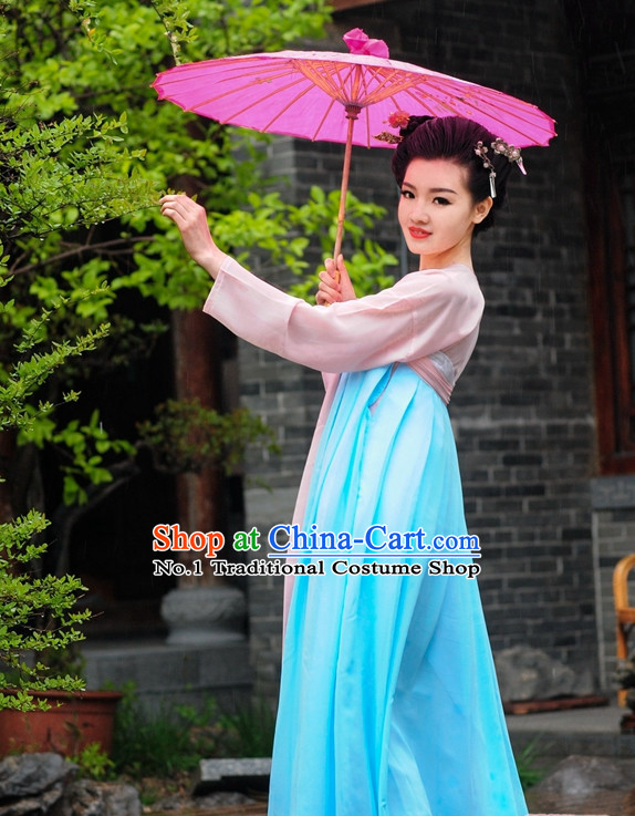 Asian Fashion Oriental Dresses Chinese Hanfu Plus Size Suits Complete Set