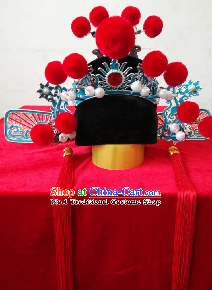 Oriental Chinese Auspicious Traditional Wedding Bridegroom Hat for Men