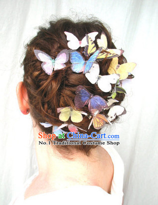 Custom Made Designer Handmade Butterfly Hair Fascinators Hair Slides Headpieces Hair Ornaments Set