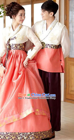 Korean Traditional Hanbok Formal Dresses Special Occasion Dresses for Couple