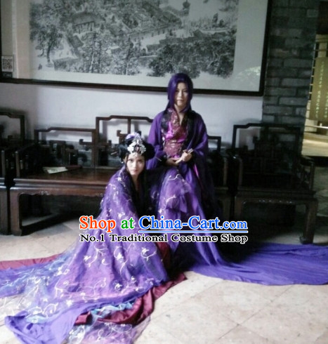 Chinese Purple Cosplay Costumes Asia Fashion Ancient China Culture
