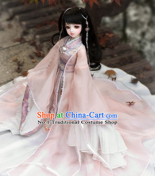 Asia Fashion Ancient China Culture Chinese Halloween Princess Costumes and Hair Accessories