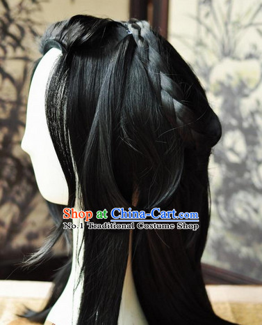 Asian Traditional Chinese Wigs Cosplay Wigs Ancient Costume Wigs Hair Pieces for Men