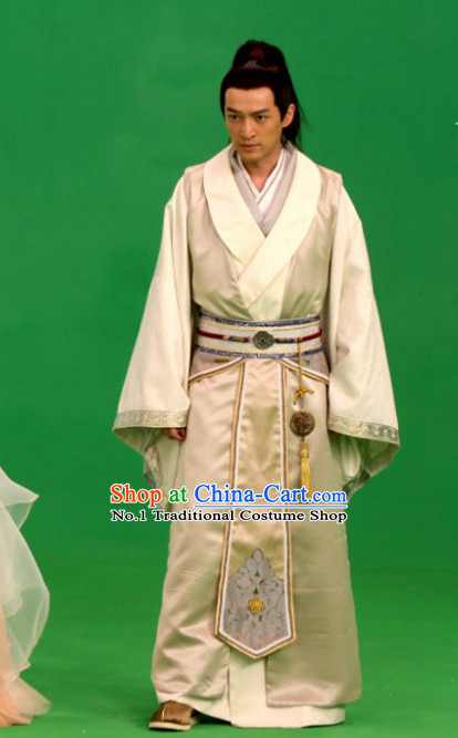 Asian Fashion Chinese Traditional Hanfu Dress Complete Set for Men