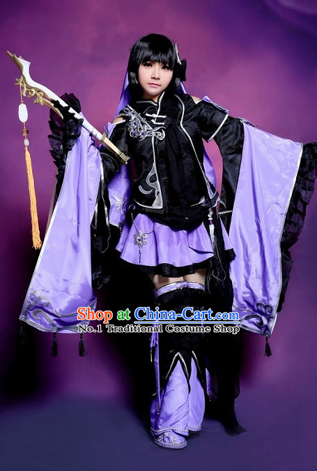 Asia Fashion Chinese Cosplay Costumes and Hair Accessories