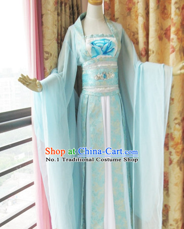 Asia Fashion Chinese Wide Sleeves Hanfu Clothes