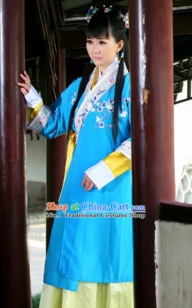 China Shopping online Blue Mandarin Gown Complete Set