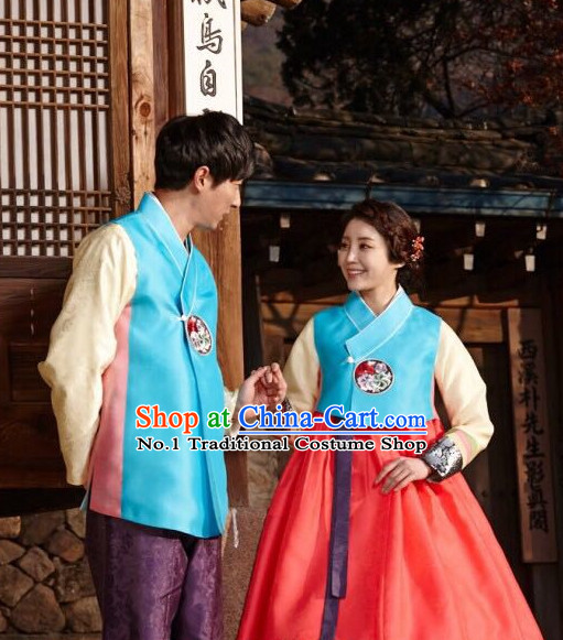 Korean Couple Hanbok Fashion online Apparel Hanbok Costumes Dresses