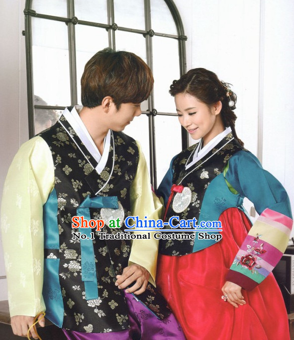 Korean Couple Traditional Clothes Hanbok Dress Shopping Free Delivery Worldwide
