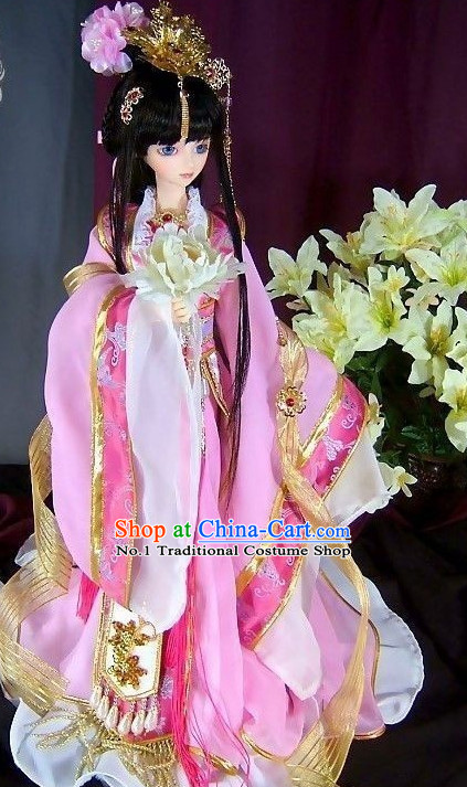 Asian Fashion Princess Traditional Clothes and Headwear Complete Set