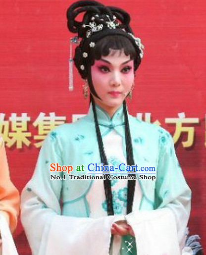 Chinese Traditional Handmade Black Long Wig