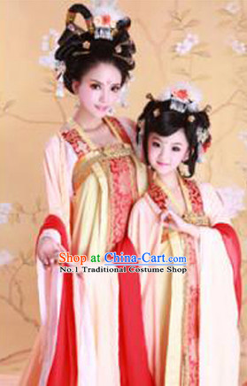 Chinese Traditional National Costumes Daughter and Mother Costume Hair Accessories