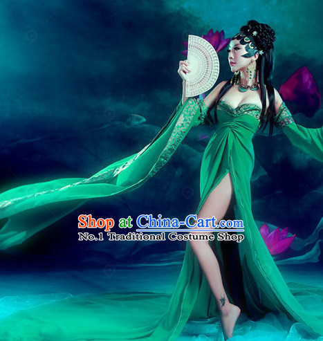 Chinese Traditional National Costumes Fairy Sexy Halloween Costume Complete Set