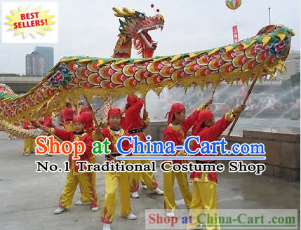 Competition and Parade Dragon Dance Costumes Complete Set for 8 Children