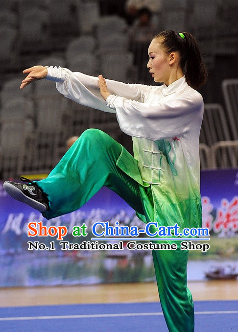 Top Tai Chi Qi Gong Yoga Clothing Yoga Wear Yoga Pants Yang Tai Chi Quan Kung Fu Competition Uniform for Women
