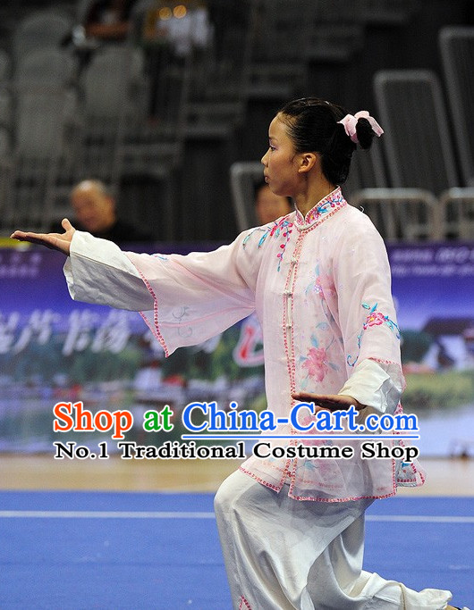 Top Tai Chi Qi Gong Yoga Clothing Yoga Wear Yoga Pants Yang Tai Chi Quan Kung Fu Competition Uniforms for Women
