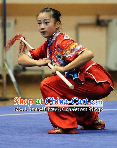 Top Phoenix Embroidery Kung Fu Stick Uniforms Kungfu Training Uniform Kung Fu Clothing Kung Fu Movies Costumes Wing Chun Costume Shaolin Martial Arts Clothes for Women