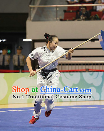 Top Kung Fu Stick Competition Uniforms Kungfu Training Suit Kung Fu Clothing Kung Fu Movies Costumes Wing Chun Costume Shaolin Martial Arts Clothes for Women