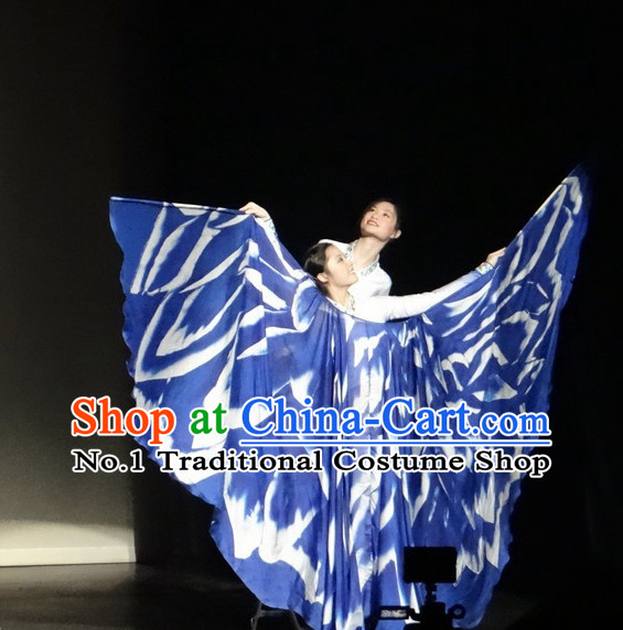 Chinese Butterfly Love Stage Dance Costumes Butterfly Wings Dancing Costumes