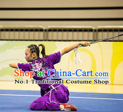 Top Chinese Kung Fu Sword Uniforms Kungfu Uniform Martial Arts Competition Costumes for Women