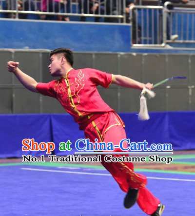 Top Chinese Wushu Kung Fu Sword Uniforms Kungfu Uniform Martial Arts Competition Costumes for Men