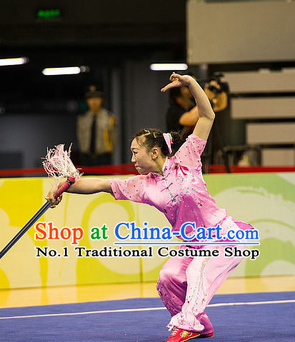Top Chinese Kung Fu Sword Uniforms Martial Arts Competition Costume for Women