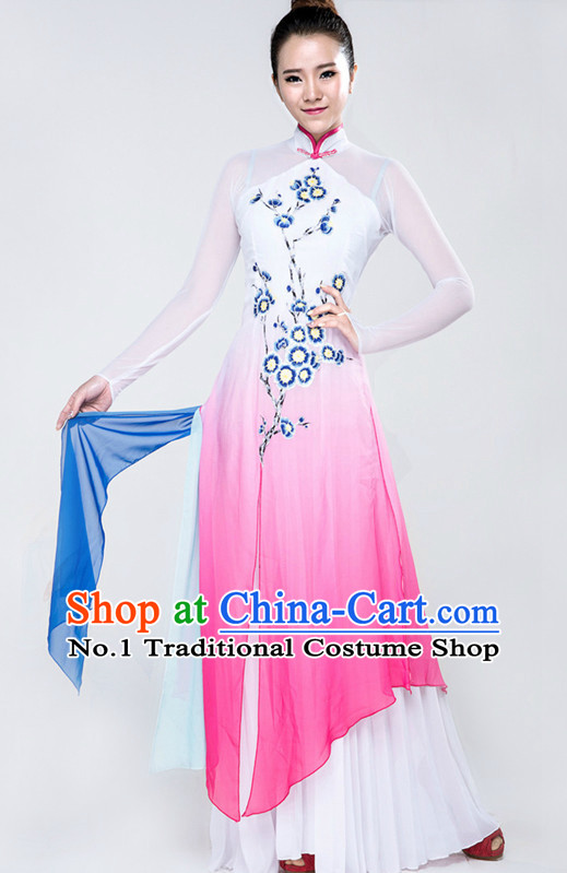 Traditional Chinese Classical Dance Costume Complete Set for Women