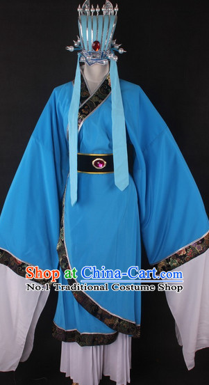Chinese Culture Chinese Opera Costumes Chinese Cantonese Opera Beijing Opera Costumes Zhuge Liang Costumes and Hat for Men