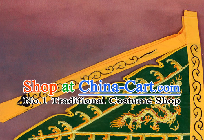 Chinese Peking Opera Beijing Opear Embroidered Dragon Flag