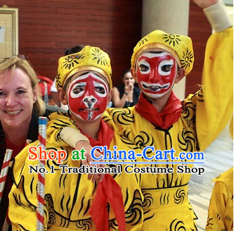 Asian Fashion China Traditional Chinese Dress Ancient Chinese Clothing Chinese Traditional Wear Chinese Monkey King Costumes and Hat for Kids