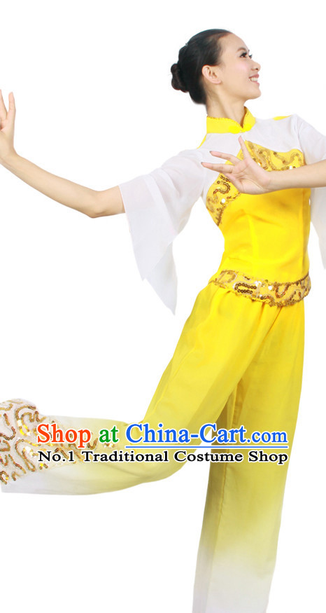 Asian Fashion China Dance Apparel Dance Stores Dance Supply Discount Chinese Fan Dance Costumes for Women