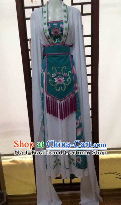 Asian Chinese Traditional Dress Theatrical Costumes Ancient Chinese Clothing Chinese Attire Mandarin Opera Water Sleeve Costumes for Women