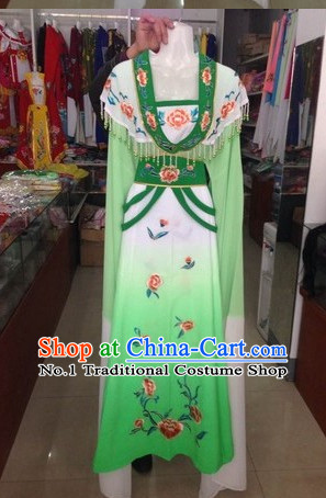 Long Sleeve Chinese Opera Hua Dan Costumes Complete Set for Women