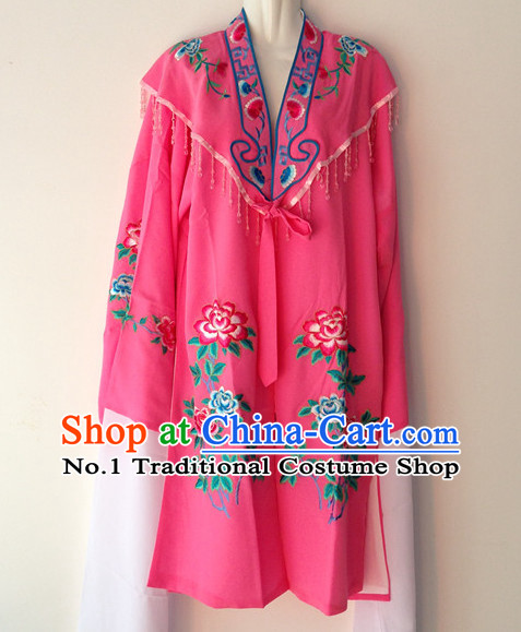 Long Sleeve Beijing Opera Female Long Gown