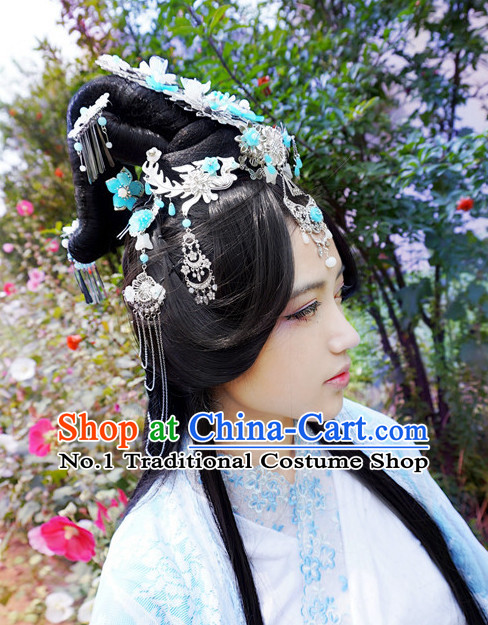 China Shopping online Traditional Chinese Empress Costumes Black Wigs and Hair Jewelry Set