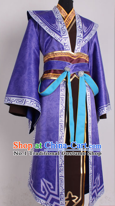 Asia Fashion Top Chinese Swordsman Costumes Complete Set for Men
