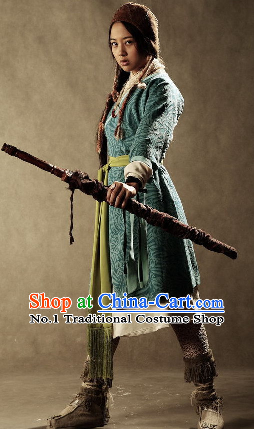 Chinese Ancient Swordswomen Costumes Complete Set