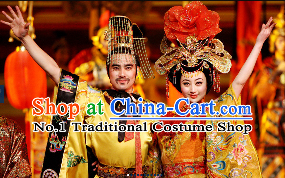 Chinese Stage Show Emper and Empress Headpieces