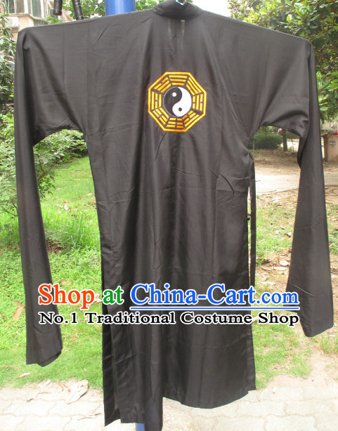Chinese Black Wudang Mountain Taoist Robe for Men